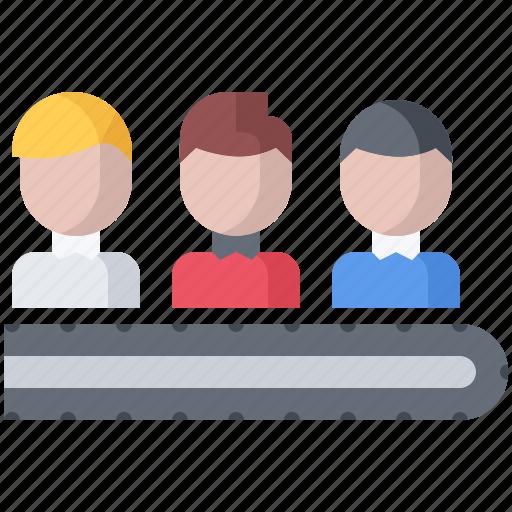 business, conveyor, corporation, human, job, office, resource icon