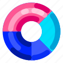 business, chart, commercial, doughnut, job, office, work icon