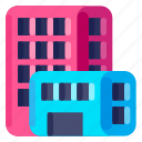 building, business, commercial, job, office, work icon