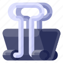 business, clamp, commercial, job, office, paper, work icon