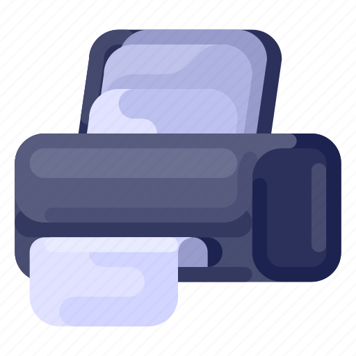 business, commercial, job, office, printer, work icon