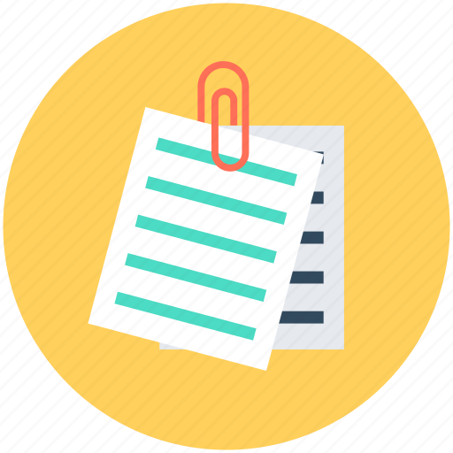 Attached document, attachment, document, file attachment, paperclip icon - Download on Iconfinder