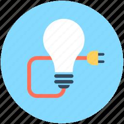 bulb, bulb light, electricity, light, plug icon