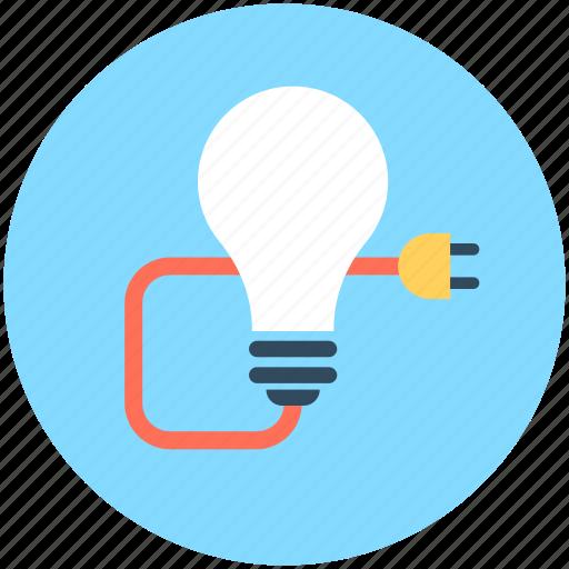 Bulb, bulb light, electricity, light, plug icon - Download on Iconfinder