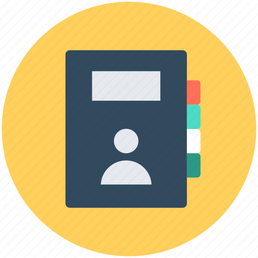 address book, contacts, diary, phonebook icon