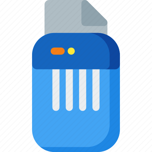 delete, documents, office, paper, remove, sheet, shredder icon