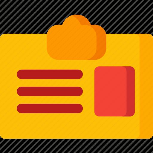 card, clip, id, office, personel, user icon