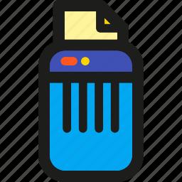 cancel, delete, recycle, remove, shredder, trash icon