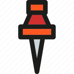 arrow, down, location, map, navigation, pin, pointer icon