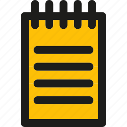 document, edit, note, page, paper, write icon