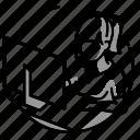 callcenter, employee, illustration, person, woman, сomputer icon