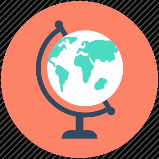 earth, globe, planet, school globe, table globe icon