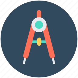compass, divider, drawing, geometry, geometry tool icon