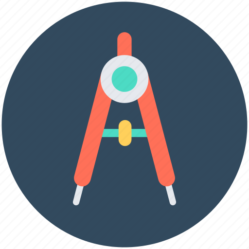 Compass, divider, drawing, geometry, geometry tool icon - Download on Iconfinder