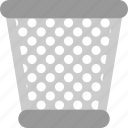 dustbin, keranjang, peralatan, remove, trash icon