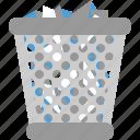 bin, full, keranjang, trash, waste icon