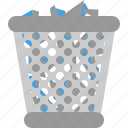 bin, full, keranjang, trash, waste