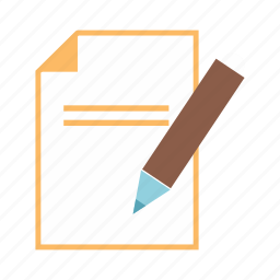 document, edit, note, notebook, page, write icon