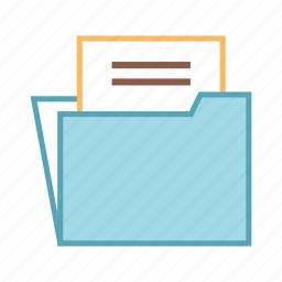 data, document, file, folder, report icon