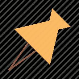 affixing pin, pin, thumb pin icon