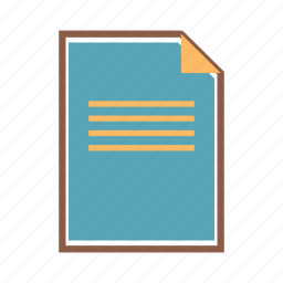 document, file, note, page, paper, report icon