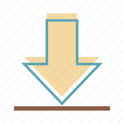 arrow, download, downward icon