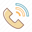 phone, call, voice call, craddle icon
