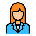 avatar, business, person, woman icon