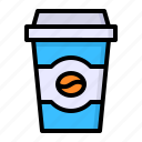 coffee, cup, drink, glass icon