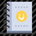 notebook, office, planner
