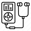 music, sound, mp3, walkman, multimedia, player, ipod icon