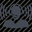 office, operator, headphones, communication, headphone