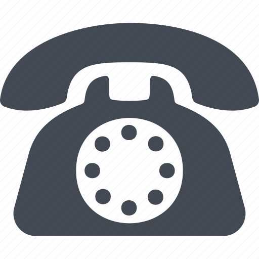 means of communication, office, phone, telephone set icon