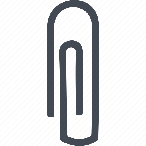 clip, office, paper clip, stationery icon