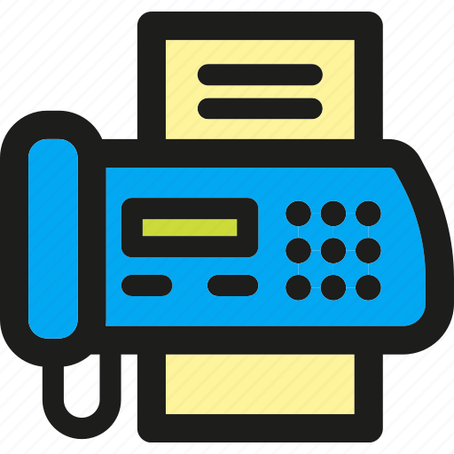 business, equipment, fax, machine, office, tools, work icon
