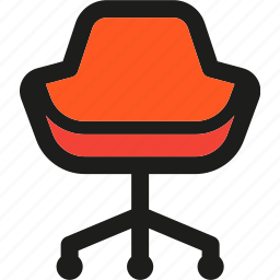 business, chair, desk, furniture, office, work icon
