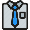 business, clothing, fashion, office, shirt, suit, tie icon