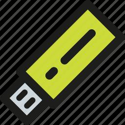 computer, device, flash, hardware, stick, usb icon