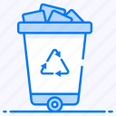 garbage container, recycle bin, trash can, trash recycle, waste bucket