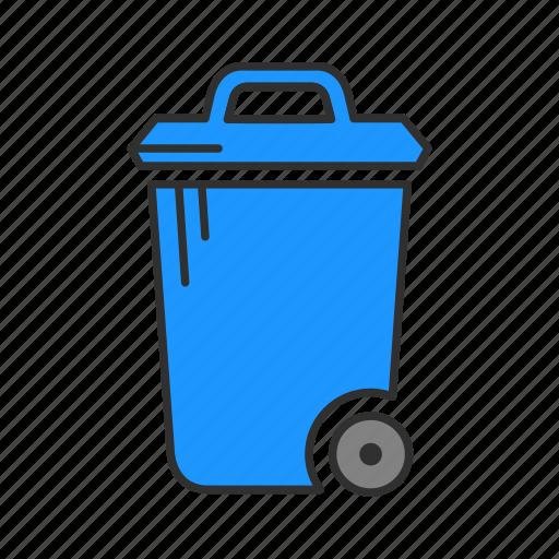 garbage, trash, trash bin, trashcan icon