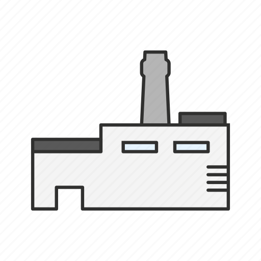 building, factory building, industrial buidling, industrial plant icon