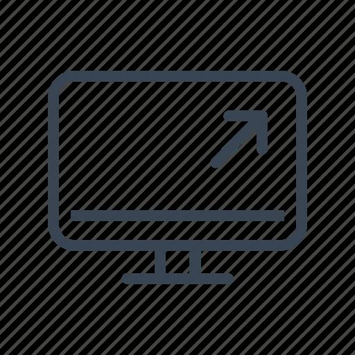 computer, monitor, screen icon