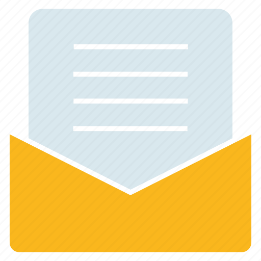 document, email, letter, paper icon