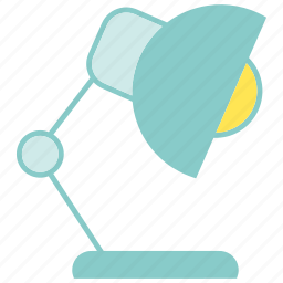 electronic, lamp, llight, table lamp icon
