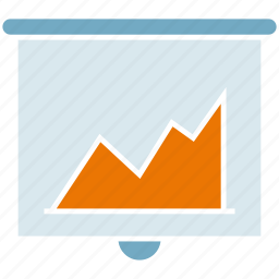 chart, graph, growth, presentation, slide icon