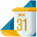 calendar, date, day, event, month, time, year icon