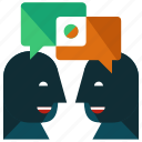 chat, communication, conversation, interaction, mail, message, talk icon