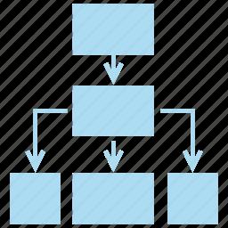 diagram, flow chart, process icon