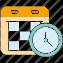 calendar, clock, manage, schedule, time