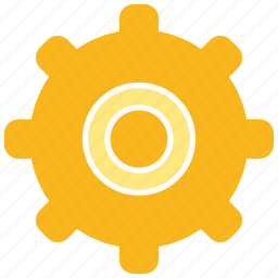 cogwheel, gear, setting icon